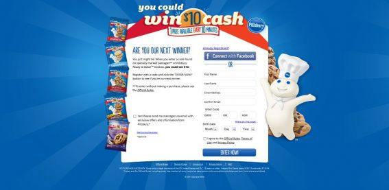 pillsburyholidaycash.com – Pillsbury Holiday Cash Instant Win Game