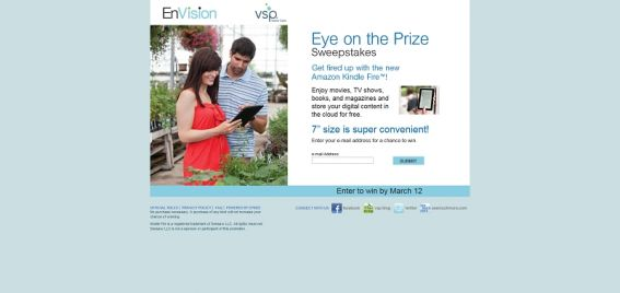 2012 VSP EnVision Eye on the Prize Sweeps