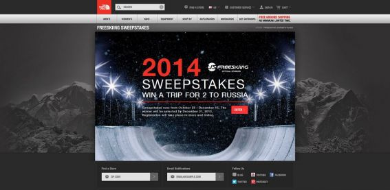 The North Face RU/14 Sweepstakes