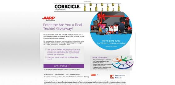 AARP's Are You a Techie Giveaway