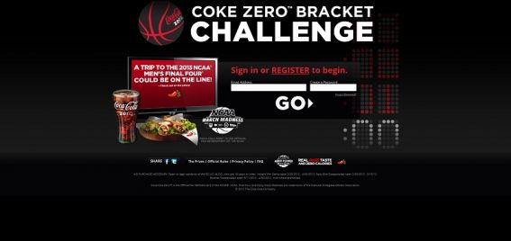 cokezerobracket.com – Coke Zero NCAA Bracket Challenge at Chili's