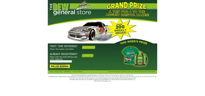 thedewgeneralstore.com – Dew General Store Dollar General Sweepstakes