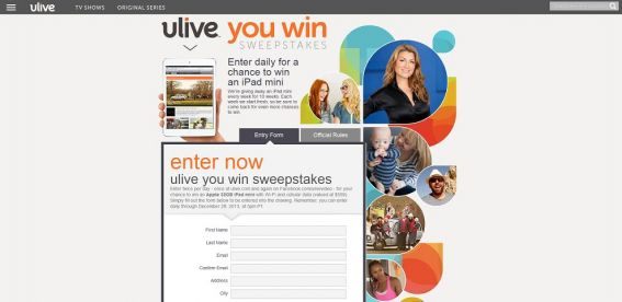 Ulive, You Win Sweepstakes