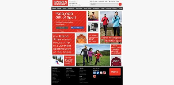 Sports Authority $500,000 Gift of Sport Holiday Sweepstakes