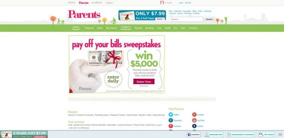 Parents.com $5,000 Bills Sweepstakes