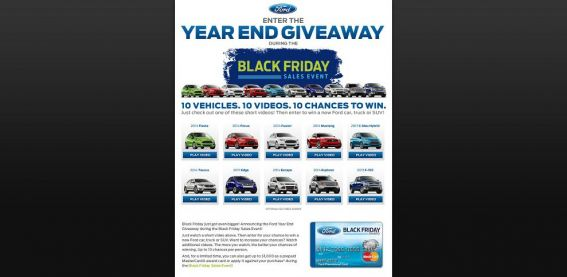 Ford Year End Giveaway