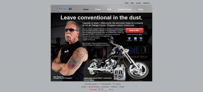 Mobil 1 and Orange County Choppers Custom Motorcycle Sweepstakes
