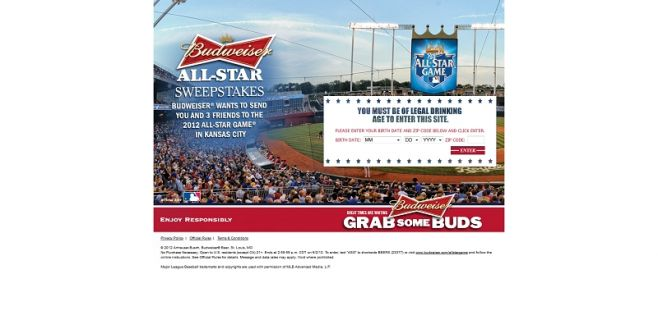 Budweiser MLB All-Star Game Sweepstakes