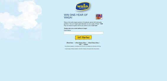 Match Your Wasa Instant Win Game