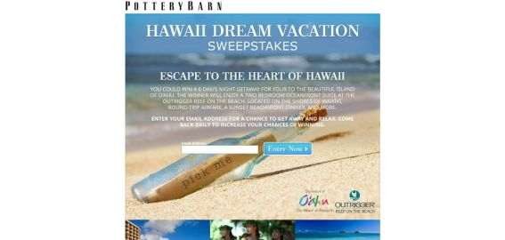 Hawaii Dream Vacation Sweepstakes