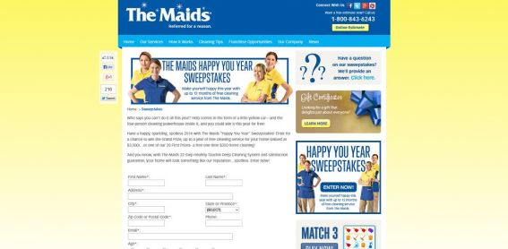 Maids Happy You Year Sweepstakes
