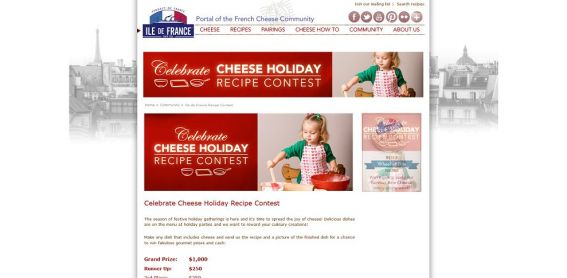 Ile de France Celebrate Cheese Holiday Recipe Contest