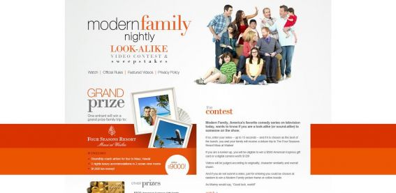 modernfamilylookalike.com – Modern Family Look-alike Video Contest and Sweepstakes