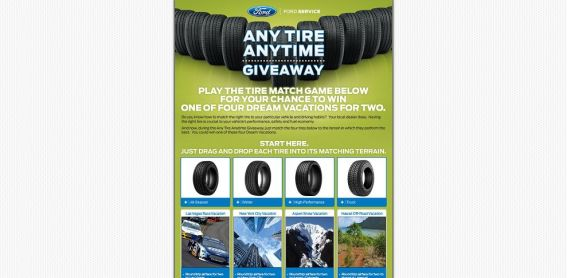 Any Tire Anytime Sweepstakes