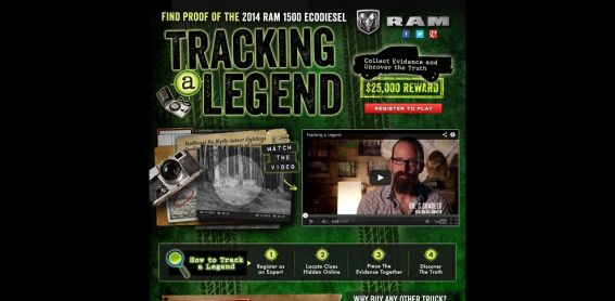 trackingalegend.com – Ram Trucks Tracking a Legend Sweepstakes