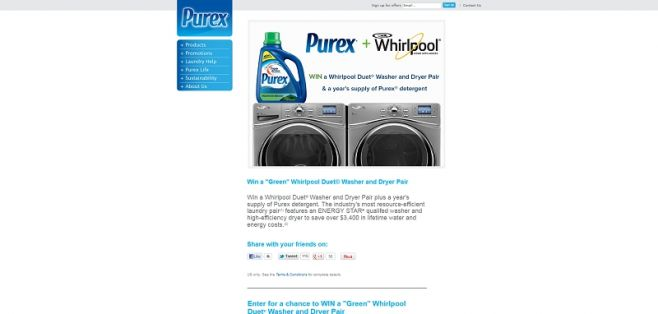 Green Washer/Dryer Combo Sweepstakes