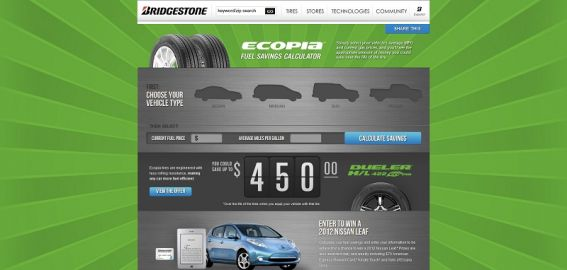 bridgestonetire.com/FuelCalculator – Bridgestone Easy to be Green Promotion