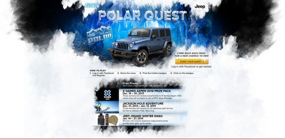 Jeep Polar Quest Sweepstakes