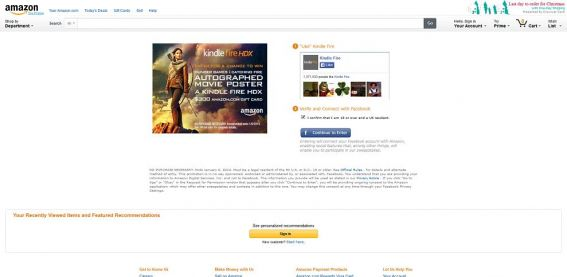 Kindle Catching Fire Sweepstakes