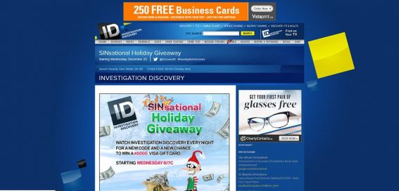 Investigation Discovery SINsational Holiday Giveaway