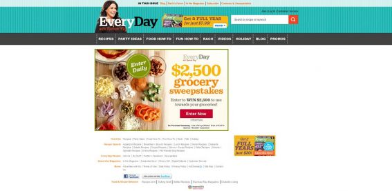 Every Day With Rachael Ray Magazine $2,500 Grocery Sweepstakes