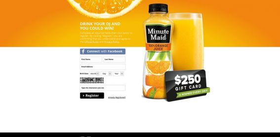 minutemaidmornings.com – Minute Maid Drink Your OJ Instant Win Game