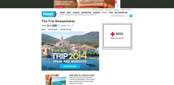 Travel Channel's The Trip: 2014 Sweepstakes