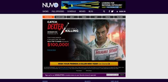 catchdexter.com – NUVOtv Catch Dexter and Make a Killing Sweepstakes