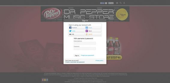 drpepper.com/music – Dr Pepper UTC Music Game