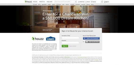 $50,000 Dream Kitchen Sweepstakes Presented by Lowe's and Houzz