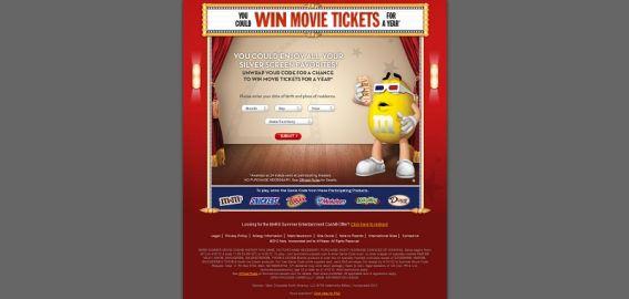 summermoviecash.com – 2012 Summer Movie Cash Instant Win Game