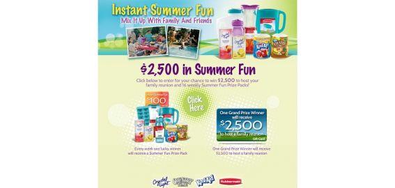 instantsummerfun.com – Rubbermaid Instant Summer Fun Sweepstakes