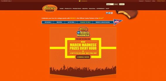 GoReeses.com – REESE'S NCAA March Madness Make the Crowd Go Wild Promotion