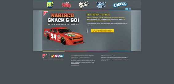 NabiscoRacing.com – Nabisco Snack & Go! NASCAR Sweepstakes and Instant Win Game