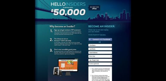 HelloWorld Insiders Instant Win Game