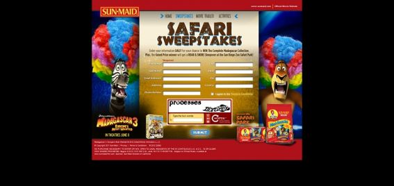 Sun-Maid's Safari Sweepstakes