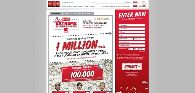 TLC.com/kmart – Kmart TLC Extreme Sweepstakes
