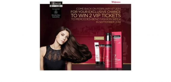 tresfw.com – Unilever Tresemmé Mercedes-Benz Fashion Week Sweepstakes