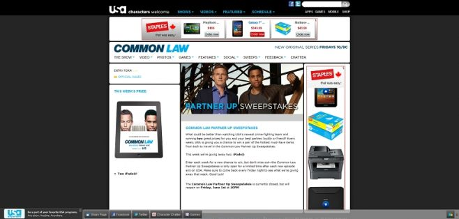 Common Law Partner Up Text to Win Sweepstakes