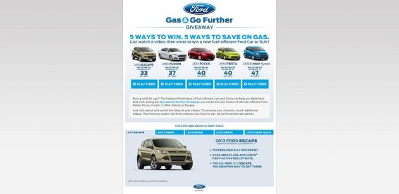 fordgasandgofurthergiveaway.com –  Ford Gas and Go Further Giveaway