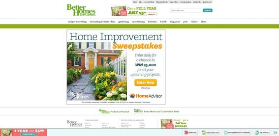 BHG Home Improvement Sweepstakes