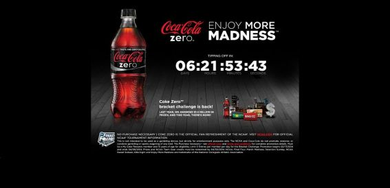 enjoymoremadness.com – Coke Zero Bracket Challenge Promotion