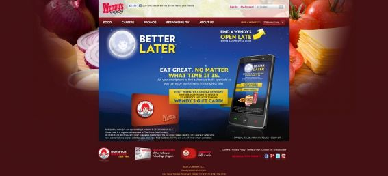 wendys.com/latenight – Wendy's Late Night Instant Win Game