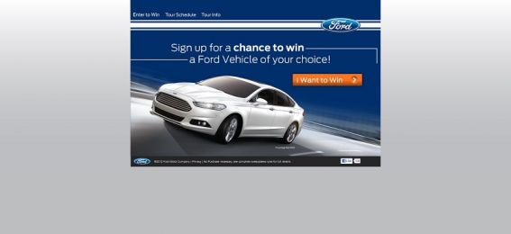 fordexperiencetour.com – 2012 Ford Experience Tour Sweepstakes