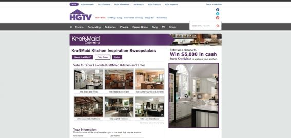 KraftMaid Kitchen Inspiration Sweepstakes