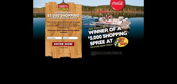 DrinkCocaColaAndWin.com – Coca-Cola/Casey's General Store/Bass Pro Shops Sweepstakes and Instant Win