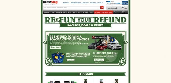 GameStop.com/refunyourrefund – GameStop Re-Fun Your Refund Sweepstakes