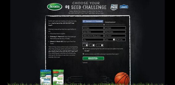 Lowes.com/ScottsSeed – Choose Your #1 Seed Challenge