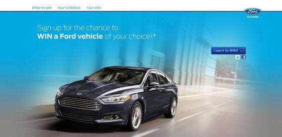 Ford Vehicle Sweepstakes