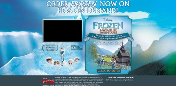 FrozenSweepstakes.com – Frozen Adventure Sweepstakes
